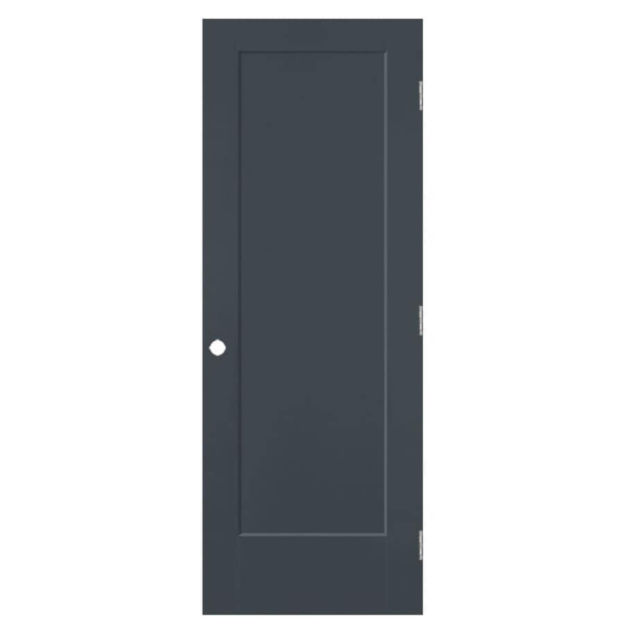 Masonite Lincoln Park Slate Hollow Core Molded Composite Single Prehung Interior Door with Hardware (Common: 30-in x 80-in; Actual: 31.5-in x 81.5-in)