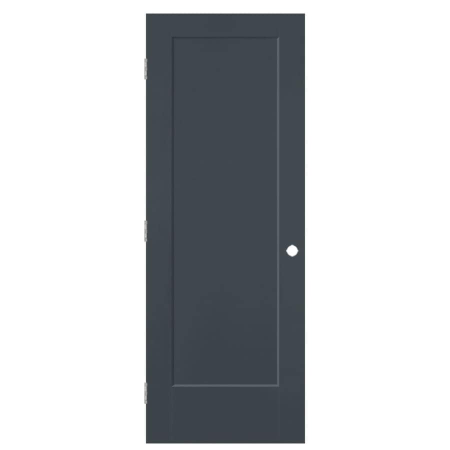 Masonite Lincoln Park Slate Hollow Core Molded Composite Single Prehung Interior Door with Hardware (Common: 32-in x 80-in; Actual: 33.5-in x 81.5-in)