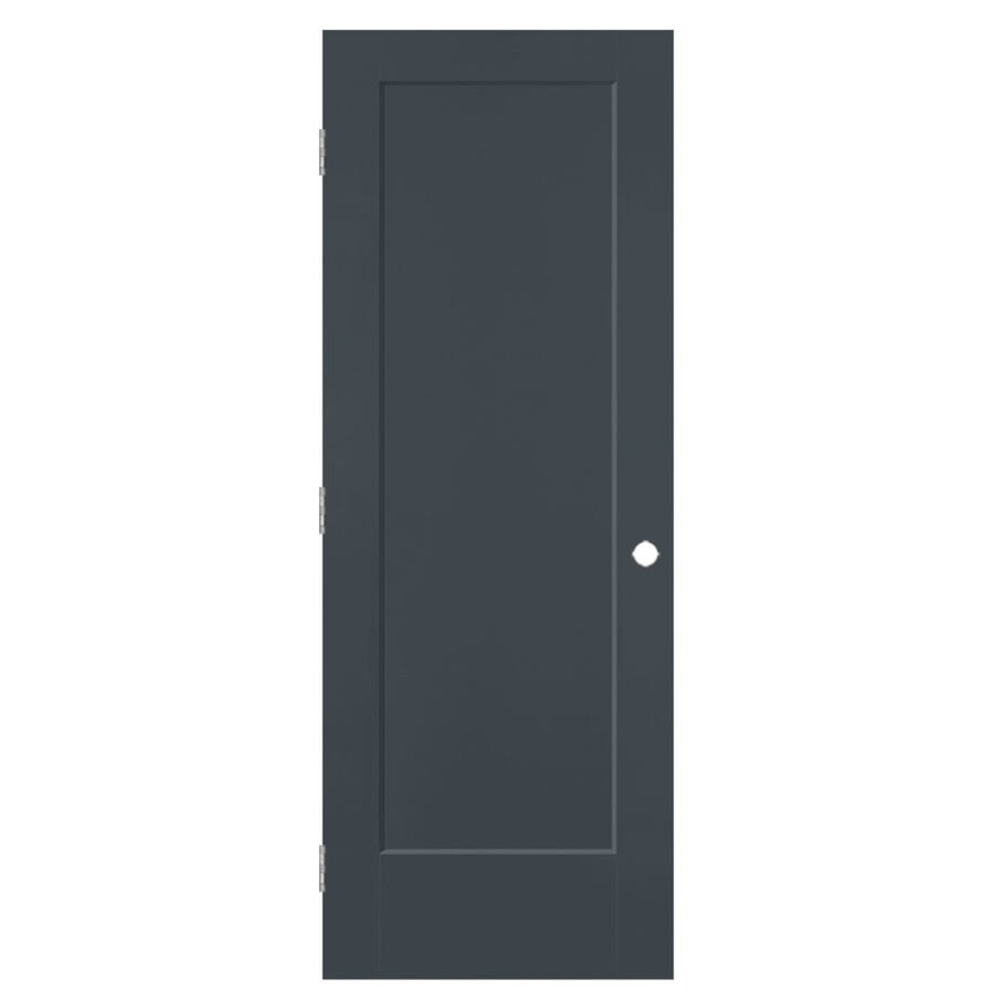 Masonite Lincoln Park Slate Hollow Core Molded Composite Single Prehung Interior Door with Hardware (Common: 36-in x 80-in; Actual: 37.5-in x 81.5-in)