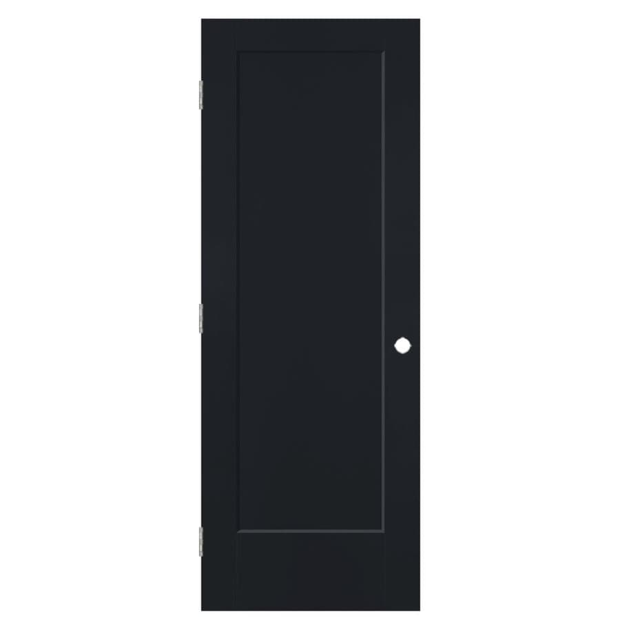 Masonite Lincoln Park Midnight 1-panel Single Prehung Interior Door (Common: 24-in X 80-in; Actual: 25.5-in x 81.5-in)