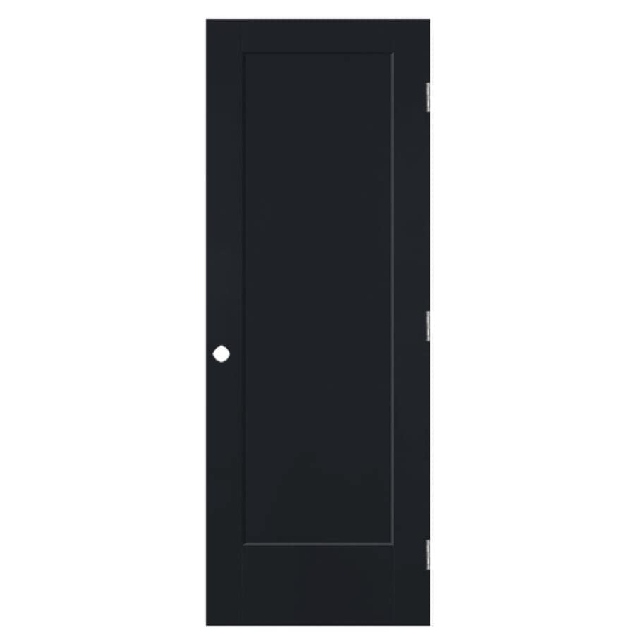 Masonite Lincoln Park Midnight 1-panel Single Prehung Interior Door (Common: 32-in x 80-in; Actual: 33.5-in x 81.5-in)