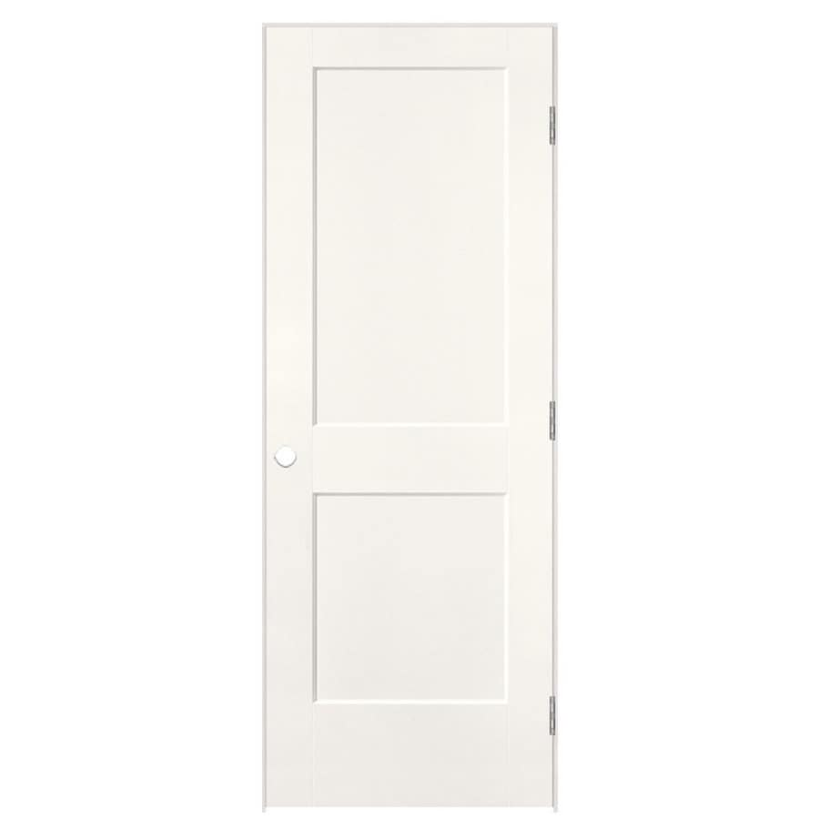 Masonite Logan Snow Storm Prehung Hollow Core 2-Panel Square Interior Door (Common: 28-in x 80-in; Actual: 29.5-in x 81.5-in)