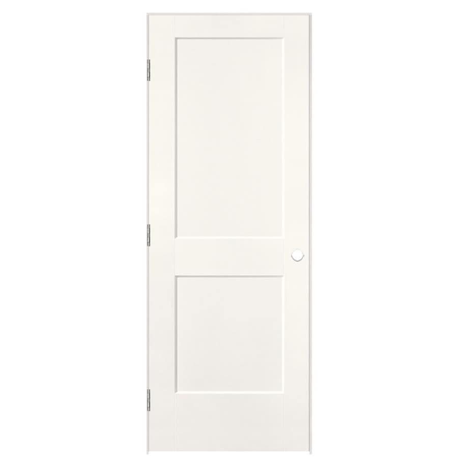 Masonite Logan Snow Storm 2-panel Square Single Prehung Interior Door (Common: 30-in X 80-in; Actual: 31.5-in x 81.5-in)