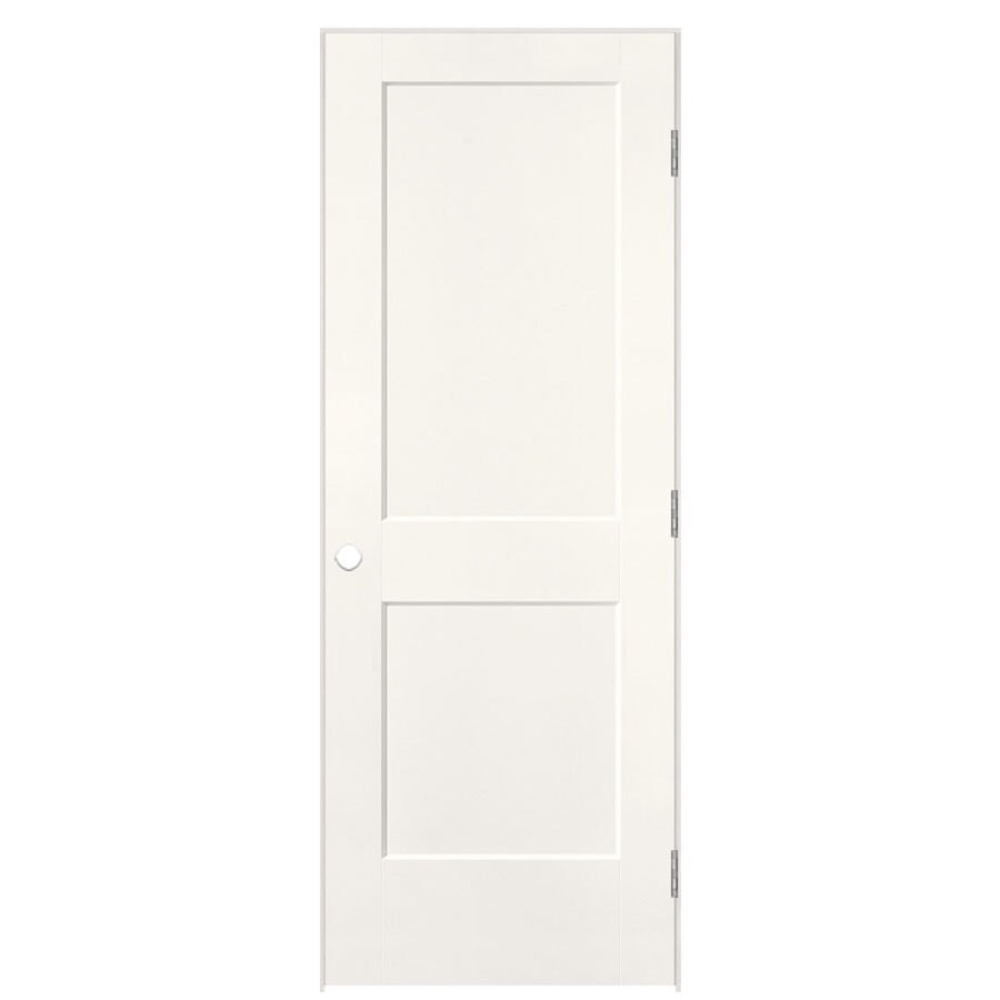 Shop Masonite Logan Snow Storm Hollow Core Molded Composite Single Prehung Interior Door With