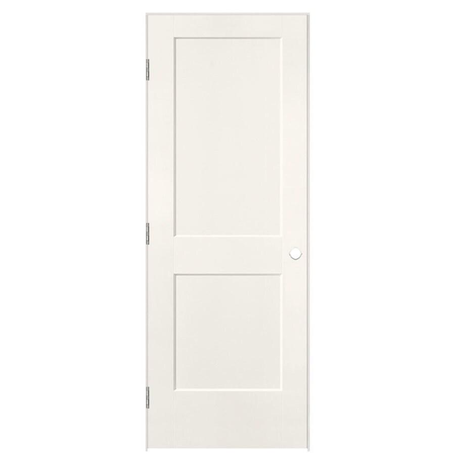 Masonite Logan White 2-panel Square Single Prehung Interior Door (Common: 28-in x 80-in; Actual: 29.5-in x 81.5-in)