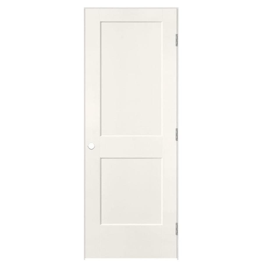 Shop Masonite Logan White Molded Composite Interior Door With Hardware Common 30 In X 80 In
