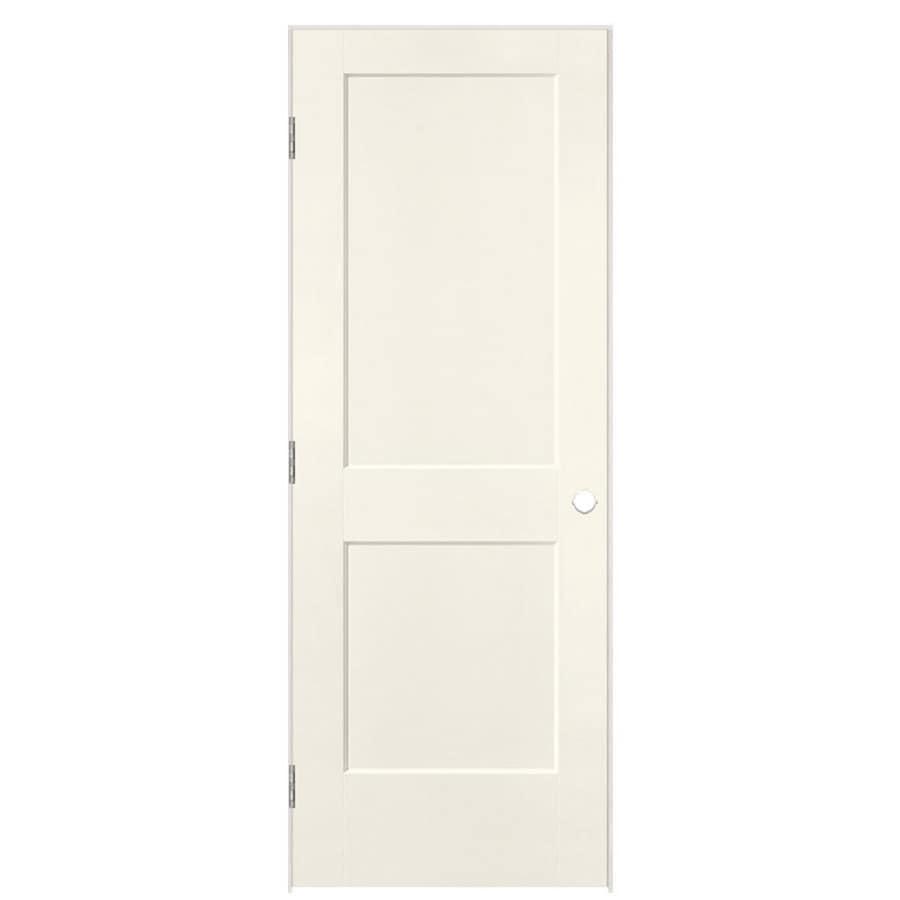 Masonite Logan Moonglow 2-panel Square Single Prehung Interior Door (Common: 24-in x 80-in; Actual: 25.5-in x 81.5-in)