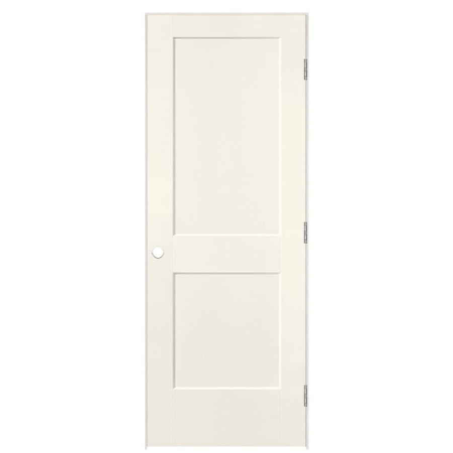 Masonite Logan Moonglow 2-panel Square Single Prehung Interior Door (Common: 30-in X 80-in; Actual: 31.5-in x 81.5-in)