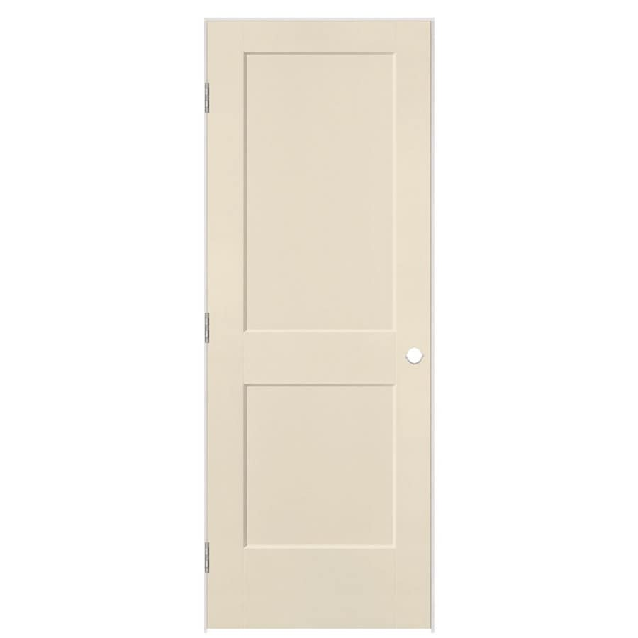 Masonite Logan Cream-N-Sugar Hollow Core Molded Composite Single Prehung Interior Door with Hardware (Common: 24-in x 80-in; Actual: 25.5-in x 81.5-in)