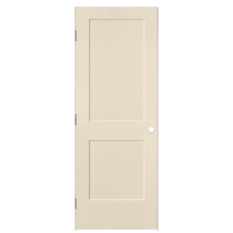 Masonite Heritage Cream-N-Sugar Hollow Core Molded Composite Single Prehung Interior Door (Common: 28-in X 80-in; Actual: 29.5-in x 81.5-in)