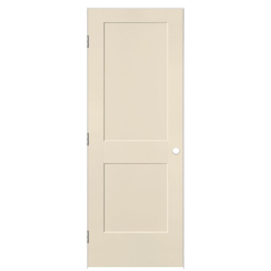 Masonite Heritage Cream-N-Sugar Hollow Core Molded Composite Single Prehung Interior Door (Common: 30-in X 80-in; Actual: 31.5-in x 81.5-in)