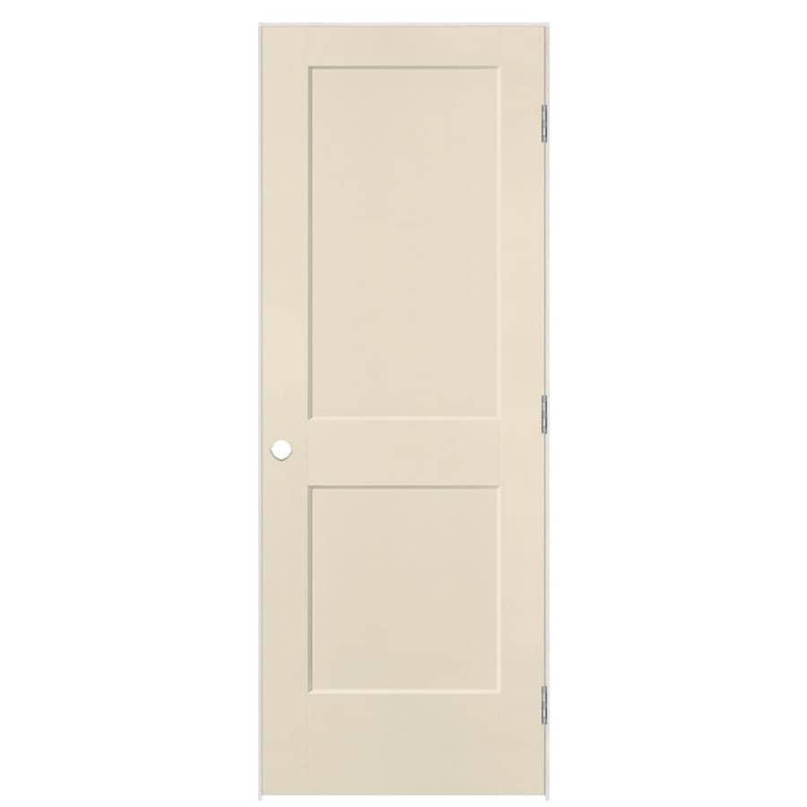 Masonite Logan Cream-n-sugar 2-panel Square Single Prehung Interior Door (Common: 32-in X 80-in; Actual: 33.5-in x 81.5-in)