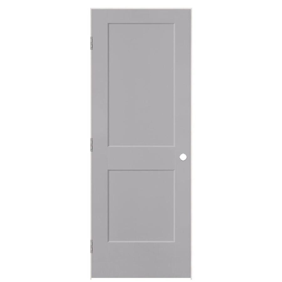 Masonite Logan Driftwood 2-panel Square Single Prehung Interior Door (Common: 24-in X 80-in; Actual: 25.5-in x 81.5-in)