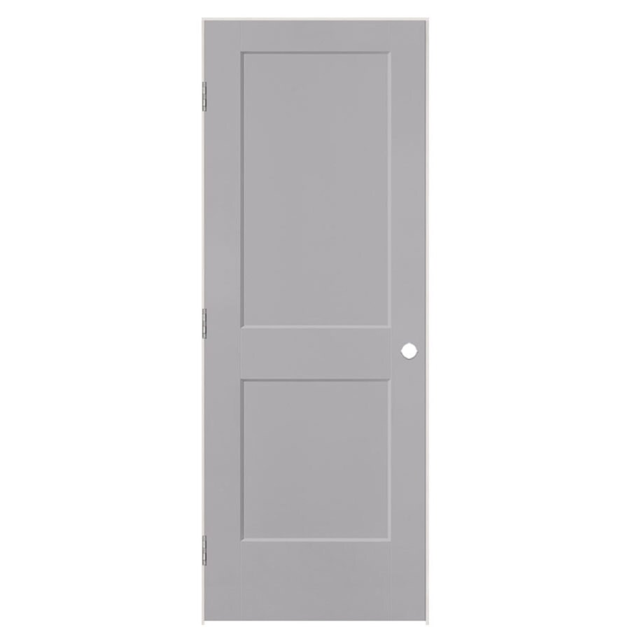 Masonite Logan Driftwood 2-panel Square Single Prehung Interior Door (Common: 28-in x 80-in; Actual: 29.5-in x 81.5-in)