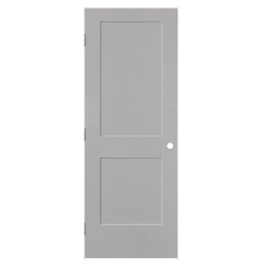 Shop Masonite Logan Driftwood 2 Panel Square Single Prehung Interior Door Common 30 In X 80 In
