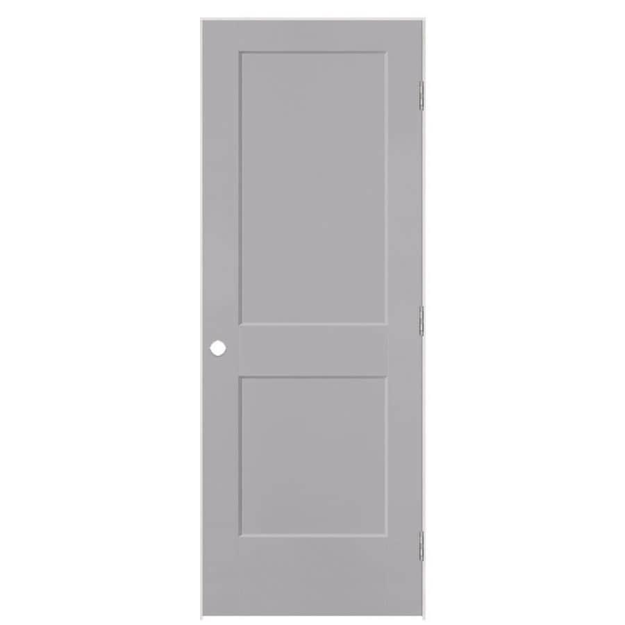 Masonite Logan Driftwood 2-panel Square Single Prehung Interior Door (Common: 36-in X 80-in; Actual: 37.5-in x 81.5-in)