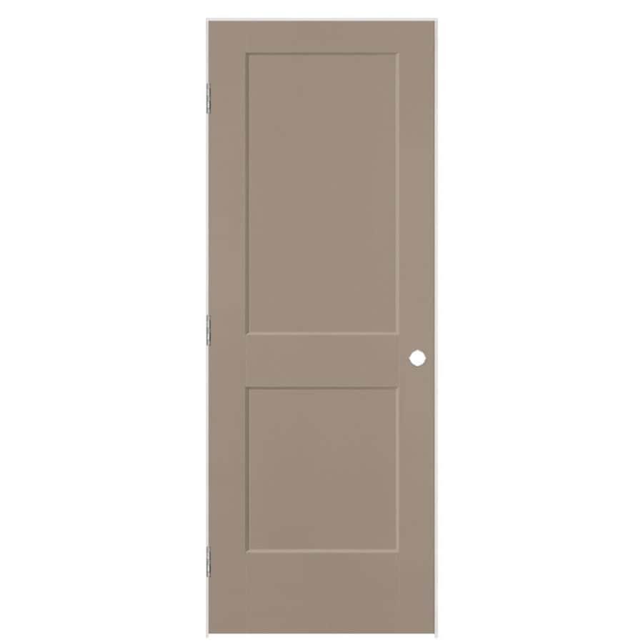 Masonite Logan Sand Piper 2-panel Square Single Prehung Interior Door (Common: 30-in X 80-in; Actual: 31.5-in x 81.5-in)
