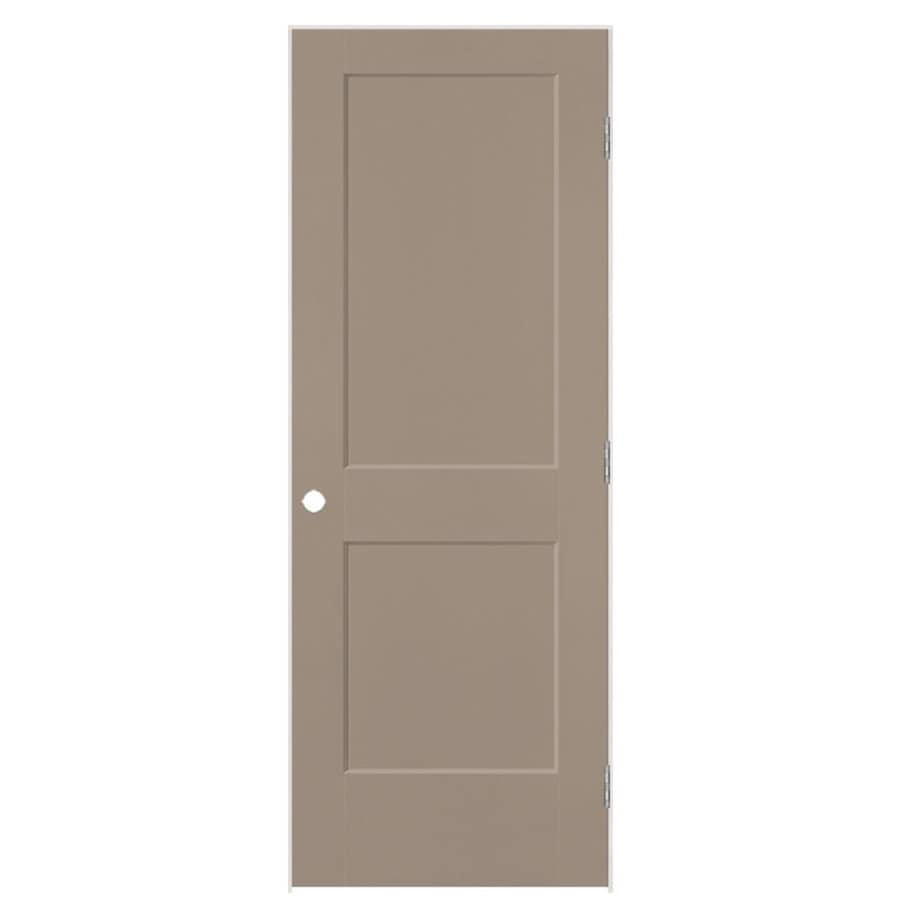 Masonite Logan Sand Piper Hollow Core Molded Composite Single Prehung Interior Door with Hardware (Common: 32-in x 80-in; Actual: 33.5-in x 81.5-in)