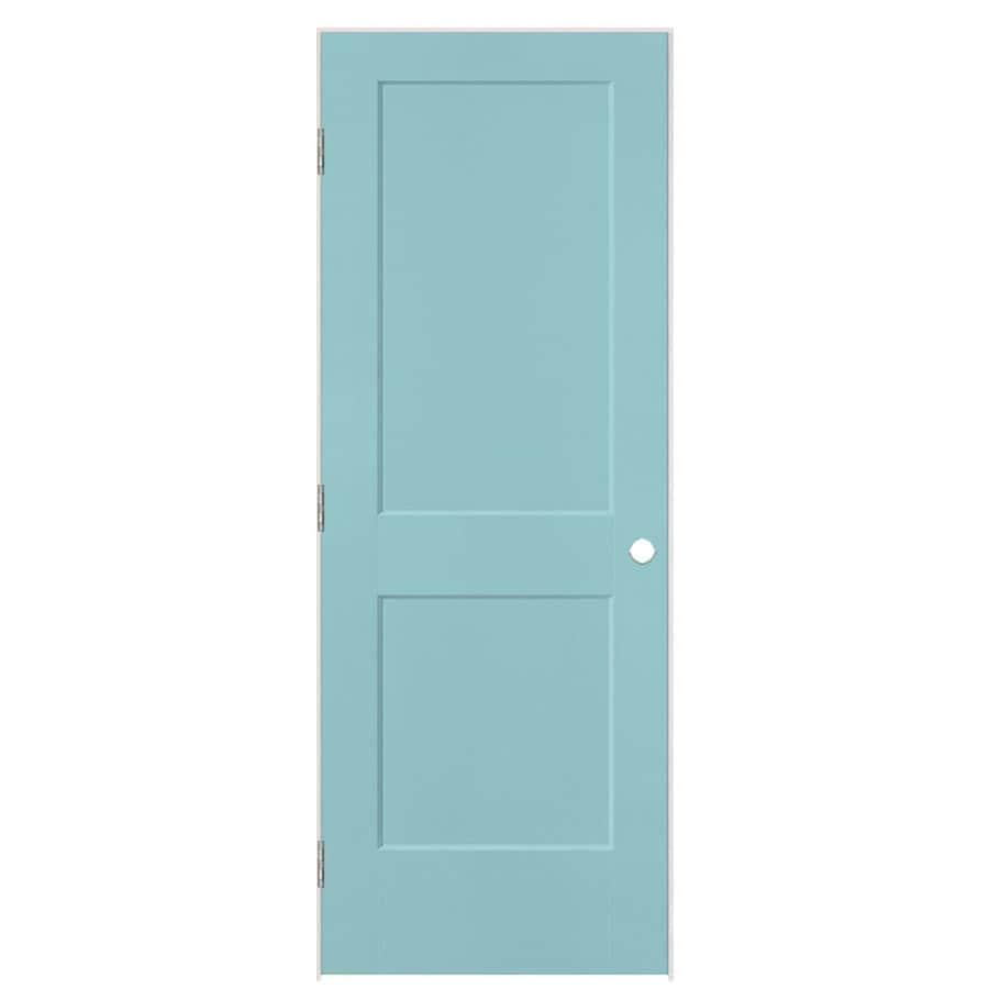 Masonite Heritage Sea Mist Hollow Core Molded Composite Single Prehung Interior Door (Common: 24-in X 80-in; Actual: 25.5-in x 81.5-in)