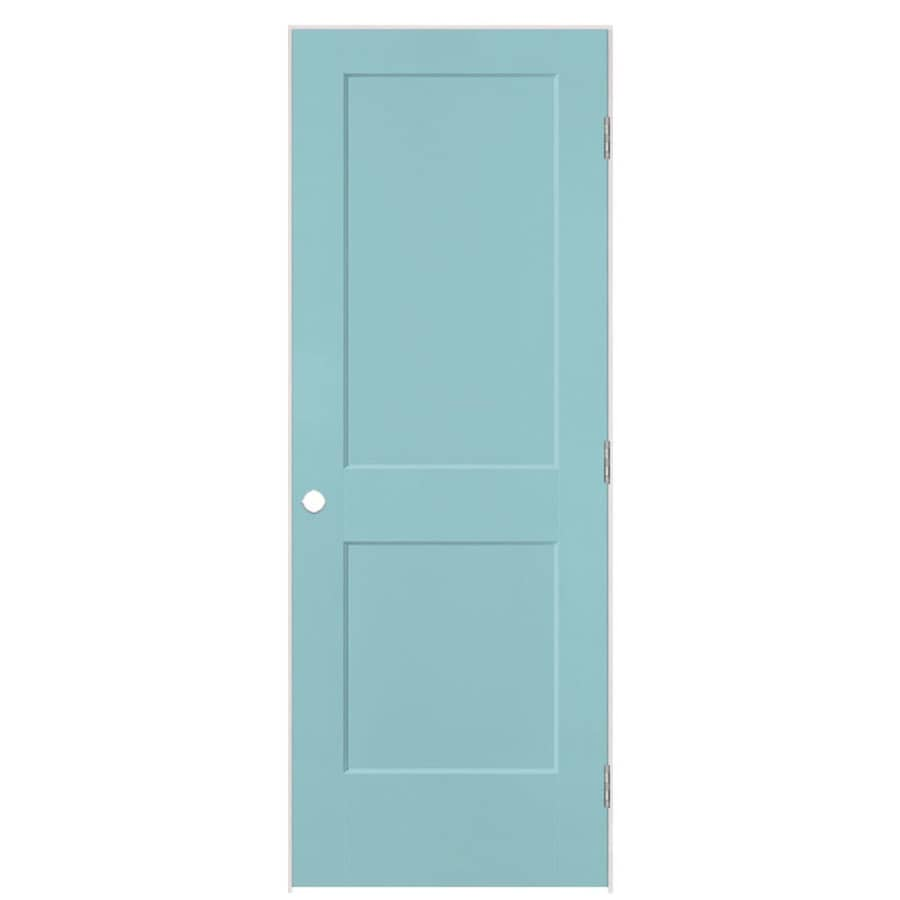 Masonite Logan Sea Mist 2-panel Square Single Prehung Interior Door (Common: 24-in x 80-in; Actual: 25.5-in x 81.5-in)