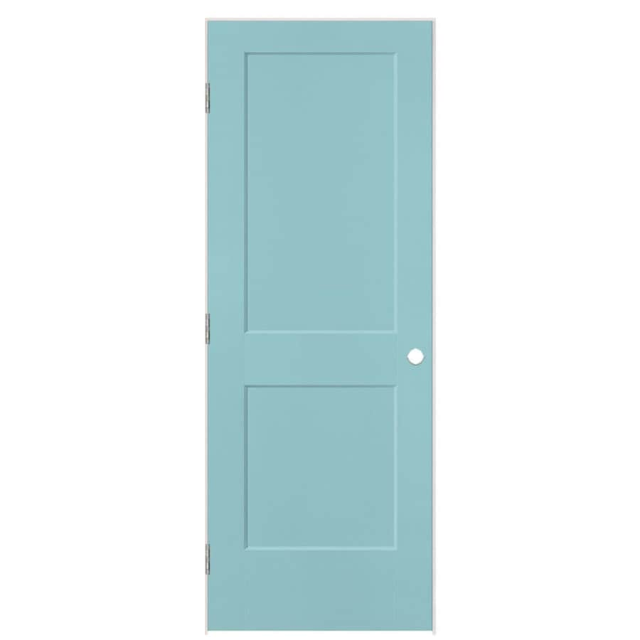 Masonite Logan Sea Mist Hollow Core Molded Composite Single Prehung Interior Door with Hardware (Common: 28-in x 80-in; Actual: 29.5-in x 81.5-in)