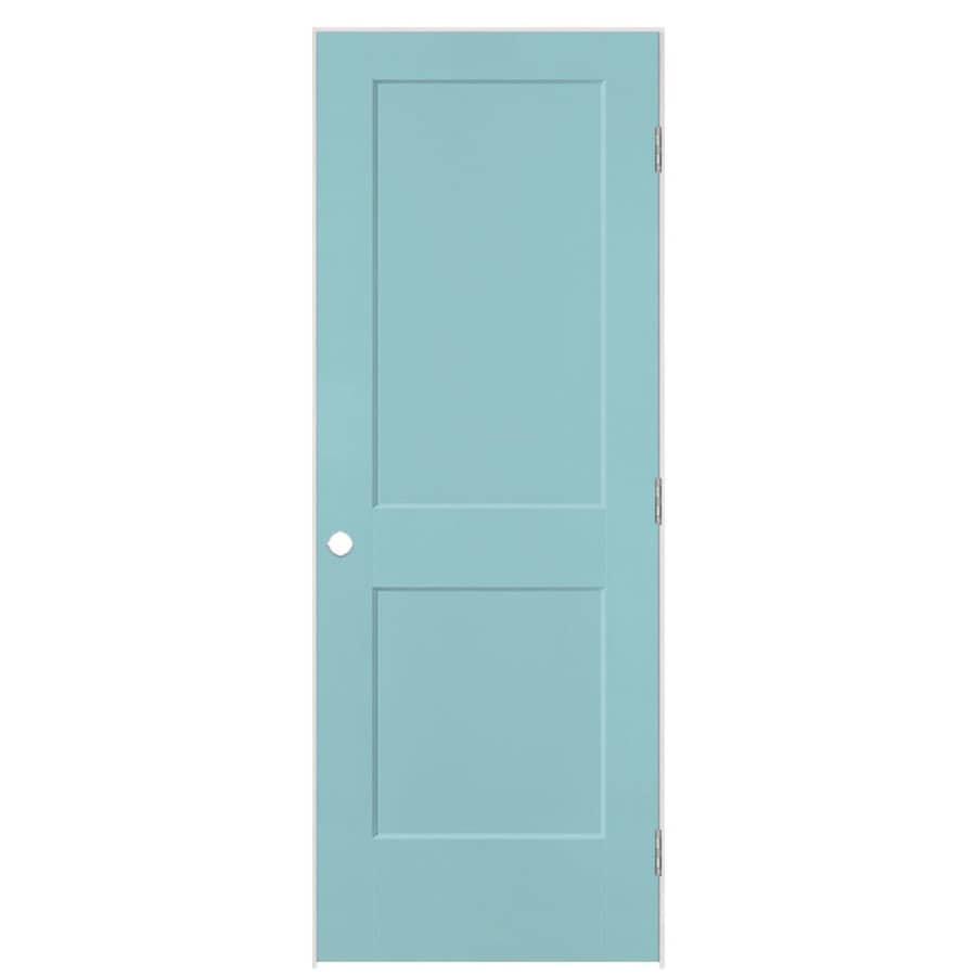 Masonite Heritage Sea Mist Hollow Core Molded Composite Single Prehung Interior Door (Common: 28-in X 80-in; Actual: 29.5-in x 81.5-in)