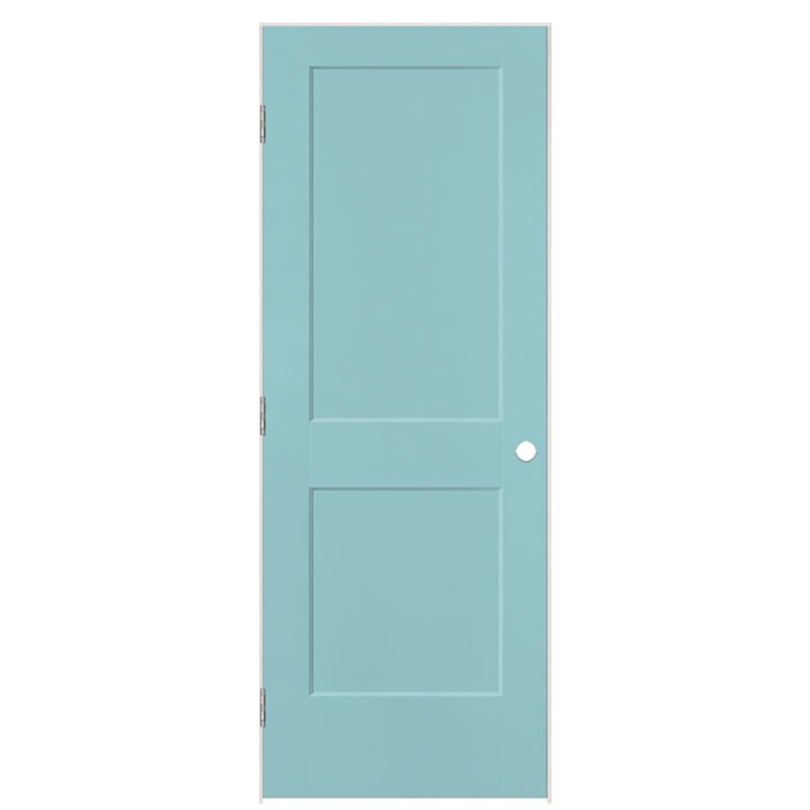 Masonite Logan Sea Mist 2-panel Square Single Prehung Interior Door (Common: 30-in X 80-in; Actual: 31.5-in x 81.5-in)
