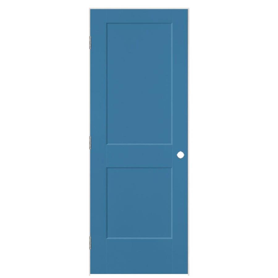 Masonite Logan Blue Heron 2-panel Square Single Prehung Interior Door (Common: 24-in X 80-in; Actual: 25.5-in x 81.5-in)