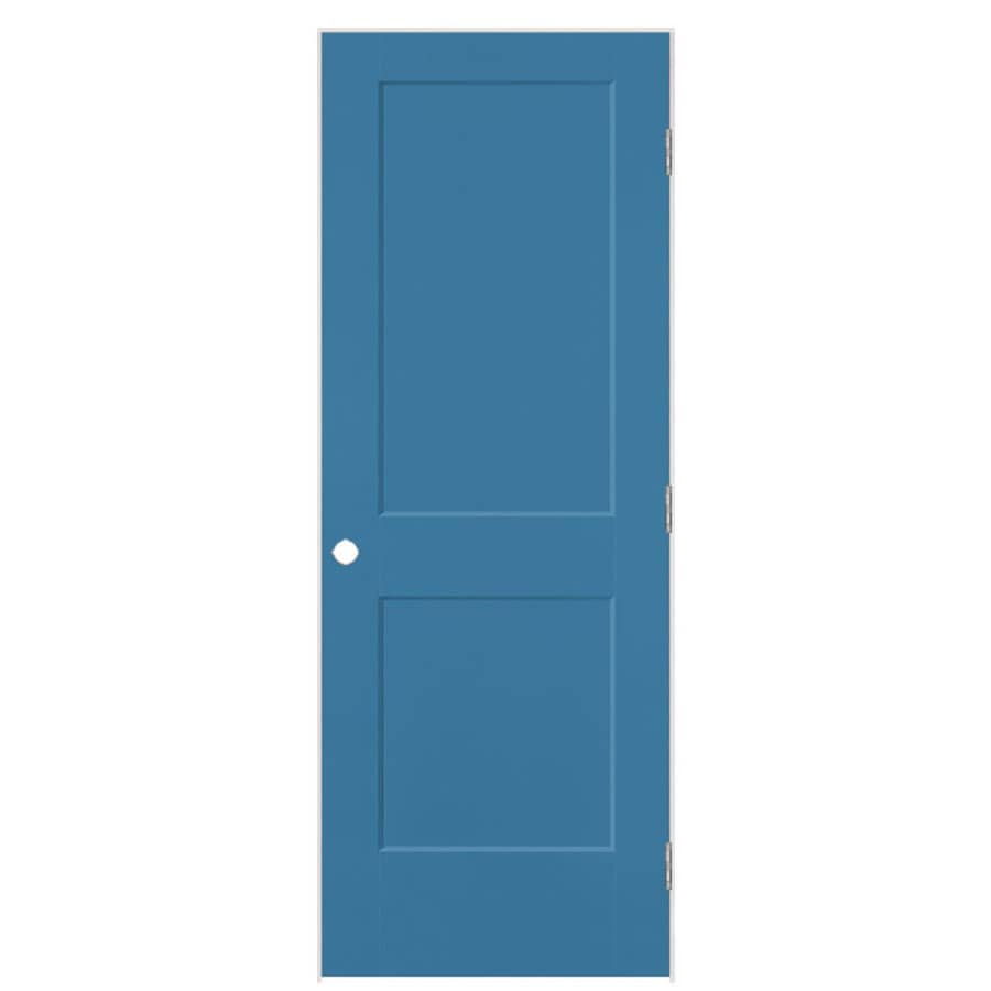 Masonite Logan Blue Heron 2-panel Square Single Prehung Interior Door (Common: 28-in X 80-in; Actual: 29.5-in x 81.5-in)