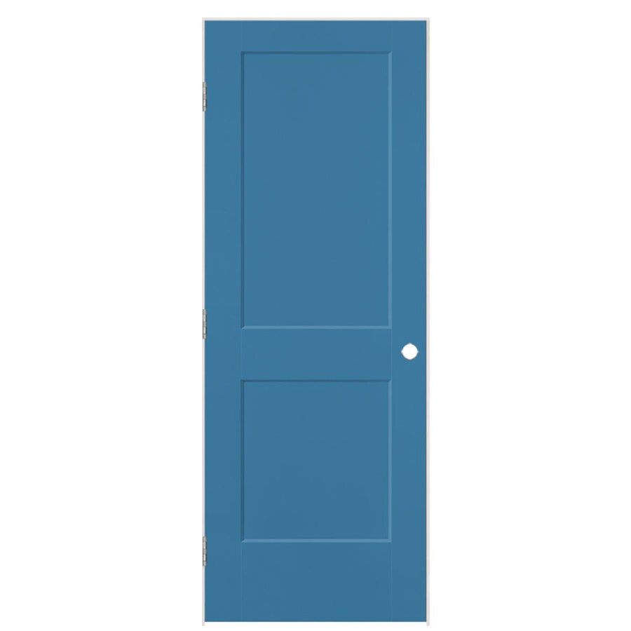 Masonite Logan Blue Heron 2-panel Square Single Prehung Interior Door (Common: 32-in X 80-in; Actual: 33.5-in x 81.5-in)