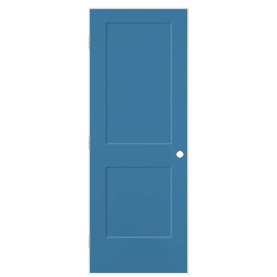 Masonite Logan Blue Heron Prehung Hollow Core 2-Panel Square Interior Door (Common: 36-in x 80-in; Actual: 37.5-in x 81.5-in)