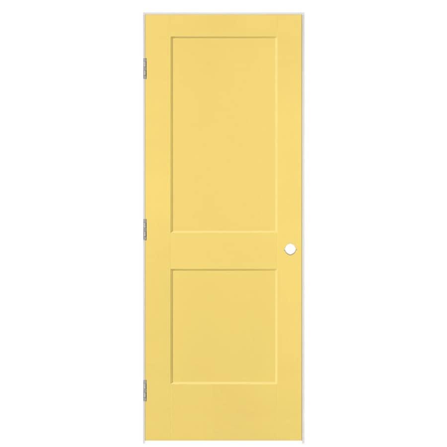 Masonite Logan Marigold 2-panel Square Single Prehung Interior Door (Common: 28-in x 80-in; Actual: 29.5-in x 81.5-in)