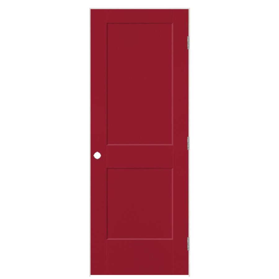 Masonite Heritage Barn Red Hollow Core Molded Composite Single Prehung Interior Door (Common: 28-in X 80-in; Actual: 29.5-in x 81.5-in)