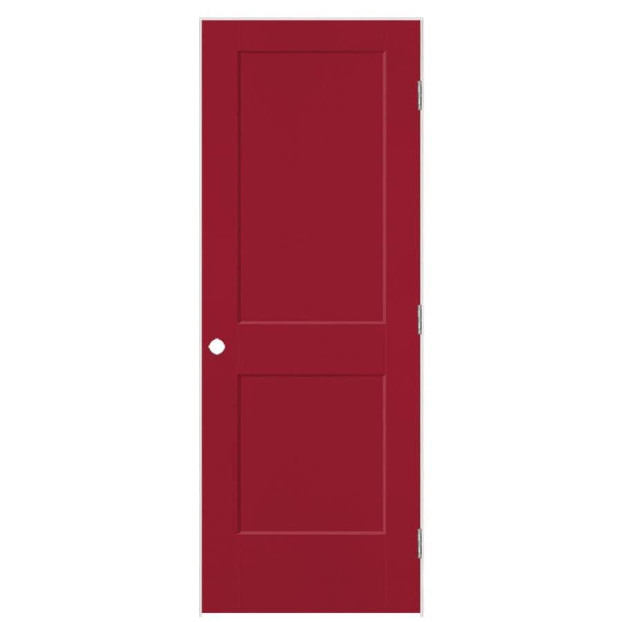 Masonite Heritage Barn Red Hollow Core Molded Composite Single Prehung Interior Door (Common: 30-in X 80-in; Actual: 31.5-in x 81.5-in)