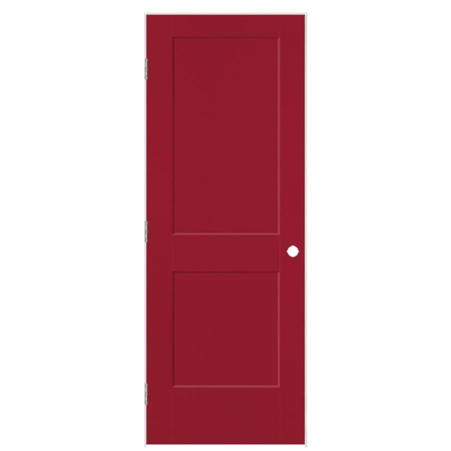 Masonite Heritage Barn Red Hollow Core Molded Composite Single Prehung Interior Door (Common: 32-in X 80-in; Actual: 33.5-in x 81.5-in)