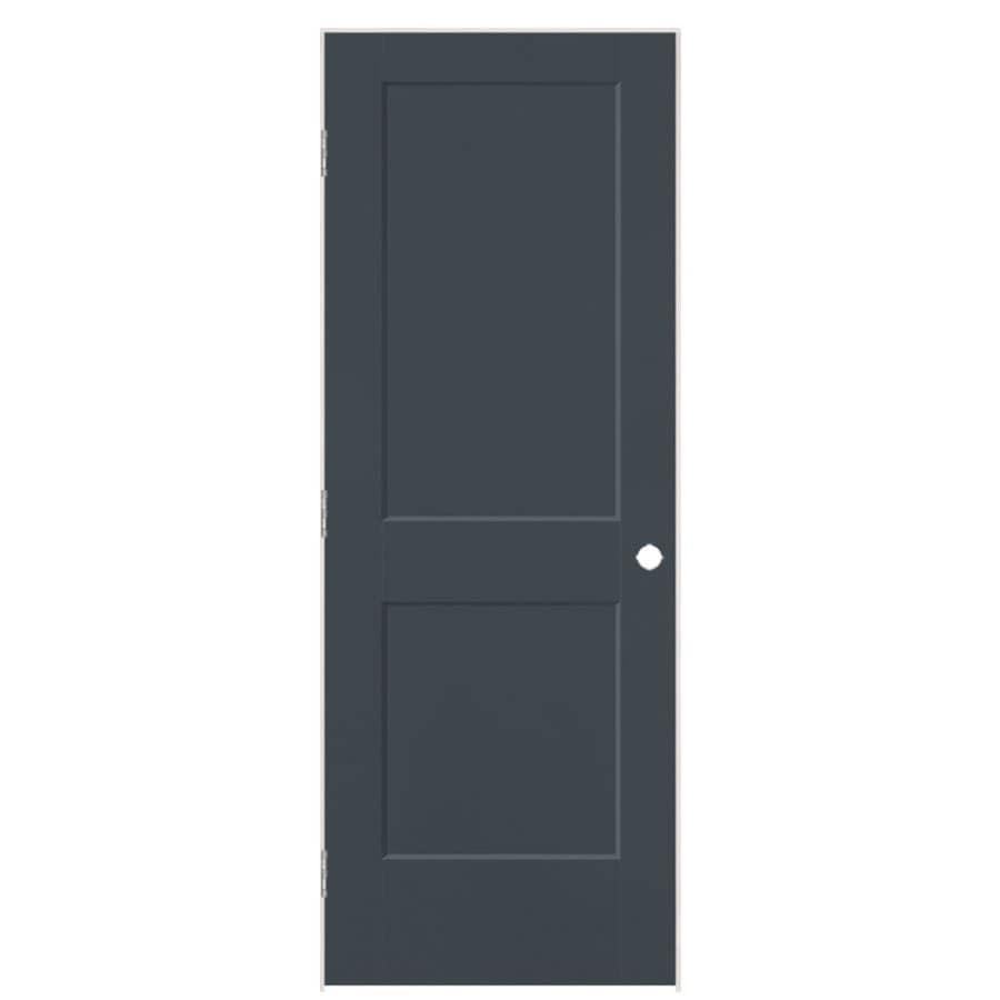 Masonite Logan Slate 2-panel Square Single Prehung Interior Door (Common: 24-in X 80-in; Actual: 25.5-in x 81.5-in)