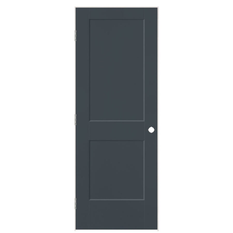 Shop masonite logan slate 2 panel square single prehung for 1 panel interior door