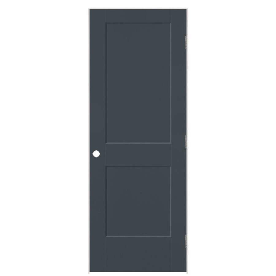 Masonite Logan Slate Hollow Core Molded Composite Single Prehung Interior Door with Hardware (Common: 32-in x 80-in; Actual: 33.5-in x 81.5-in)