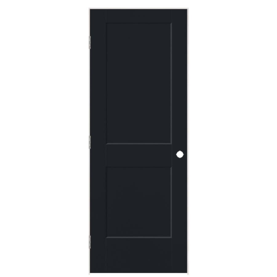 Masonite Logan Midnight 2-panel Square Single Prehung Interior Door (Common: 30-in X 80-in; Actual: 31.5-in x 81.5-in)