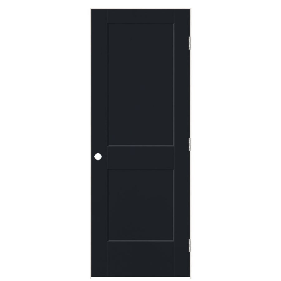 Masonite Logan Midnight Hollow Core Molded Composite Single Prehung Interior Door with Hardware (Common: 30-in x 80-in; Actual: 31.5-in x 81.5-in)
