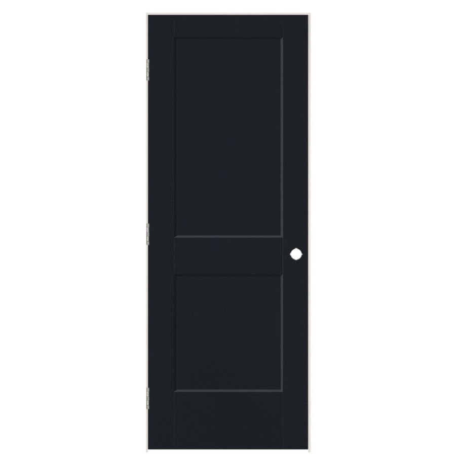 Masonite Logan Midnight 2-panel Square Single Prehung Interior Door (Common: 32-in X 80-in; Actual: 33.5-in x 81.5-in)