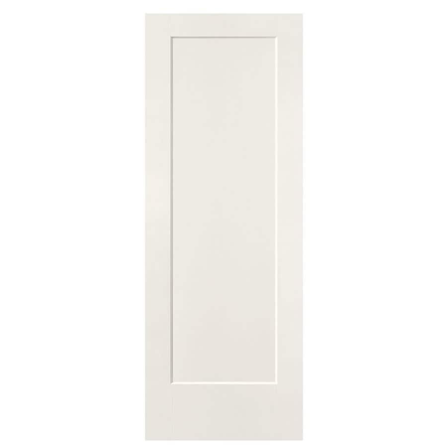 Masonite Lincoln Park White Hollow Core Molded Composite Slab Interior Door (Common: 28-in x 80-in; Actual: 28-in x 80-in)