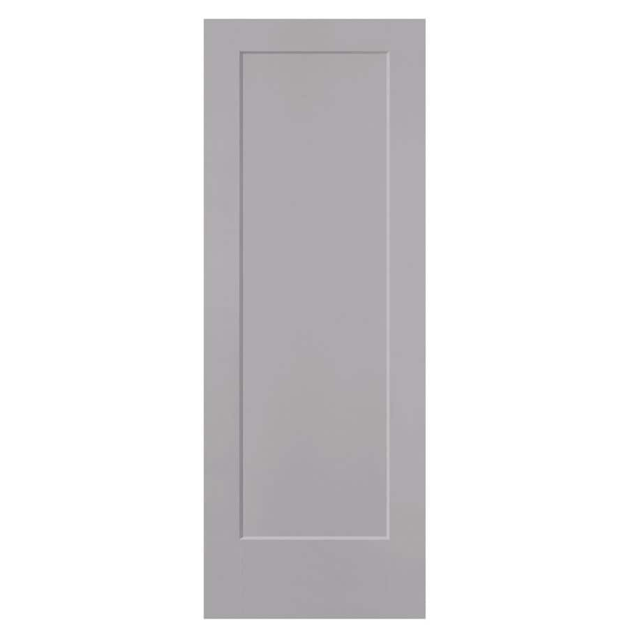 Masonite Lincoln Park Driftwood Hollow Core 1-Panel Slab Interior Door (Common: 28-in x 80-in; Actual: 29.5-in x 81.5-in)
