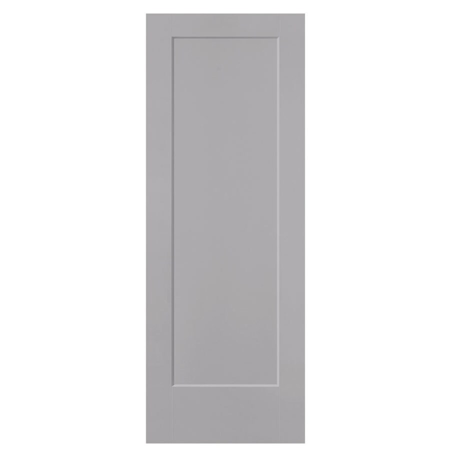 Shop masonite lincoln park driftwood 1 panel hollow core for Www masonite com interior doors
