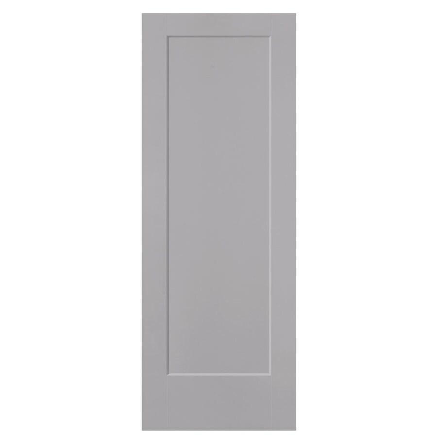 Masonite Lincoln Park Driftwood 1-panel Slab Interior Door (Common: 36-in X 80-in; Actual: 37.5-in x 81.5-in)