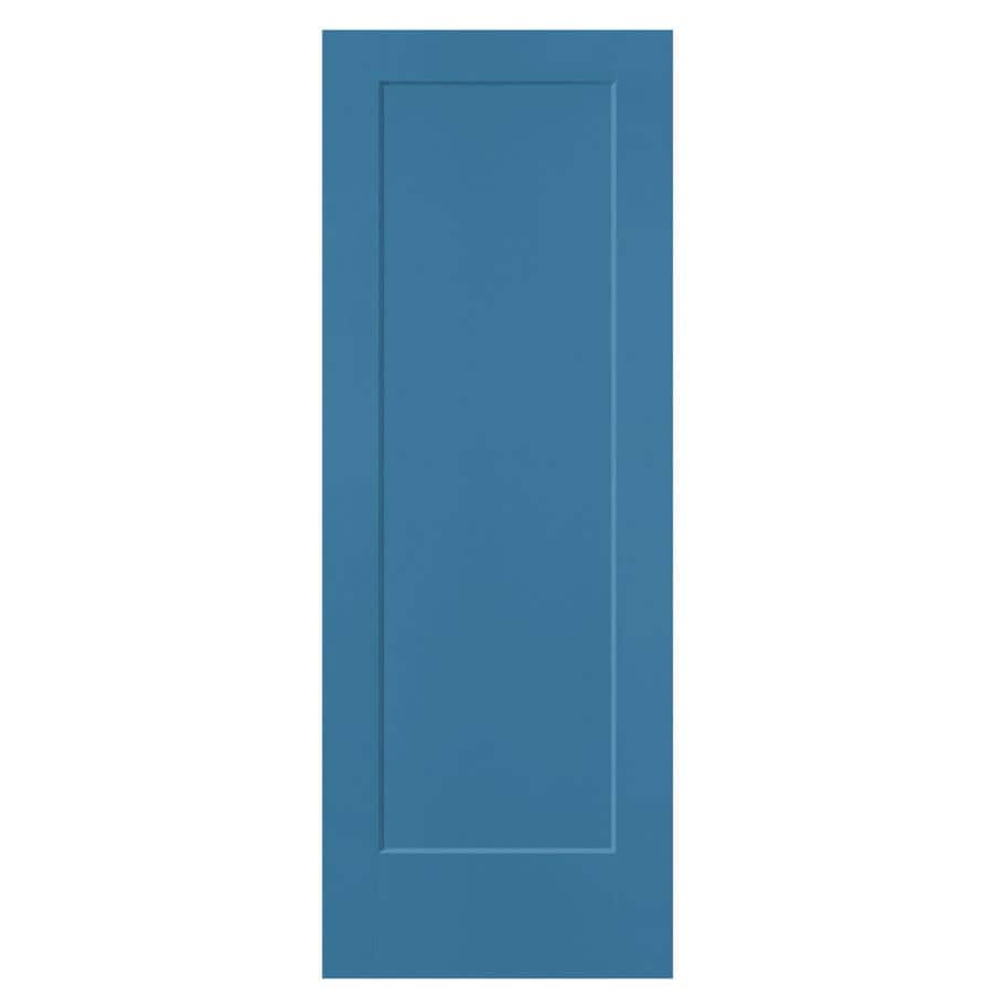Shop masonite lincoln park blue heron hollow core 1 panel for 1 panel interior door