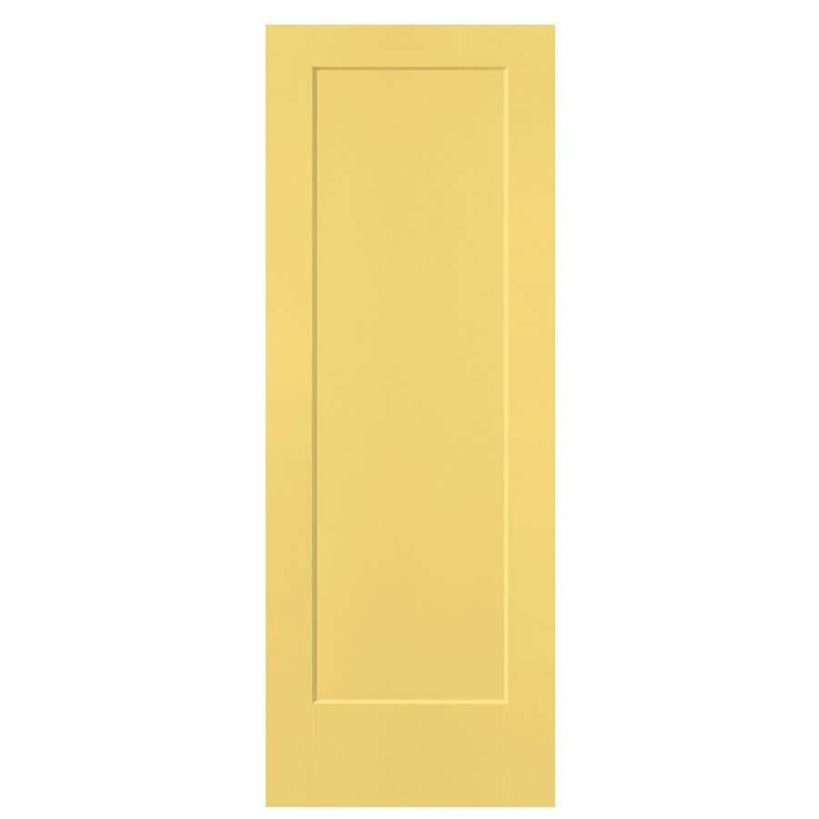 Masonite Lincoln Park Marigold Hollow Core Molded Composite Slab Interior Door (Common: 28-in x 80-in; Actual: 28-in x 80-in)