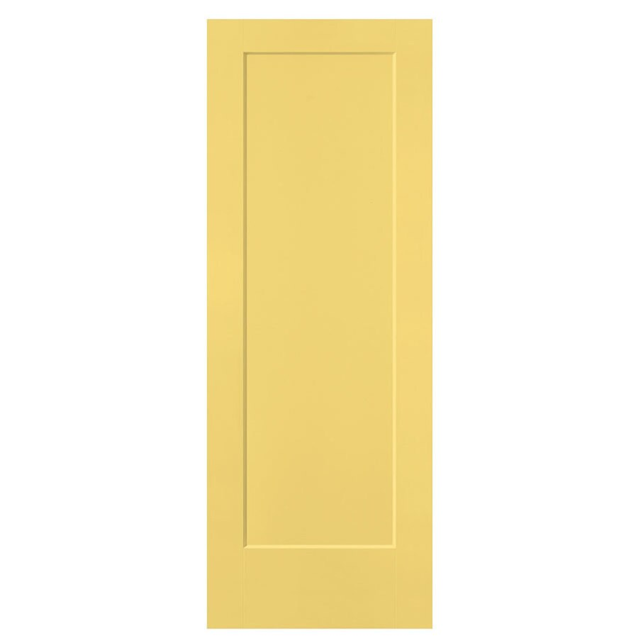 Masonite Lincoln Park Marigold 1-panel Slab Interior Door (Common: 36-in X 80-in; Actual: 37.5-in x 81.5-in)
