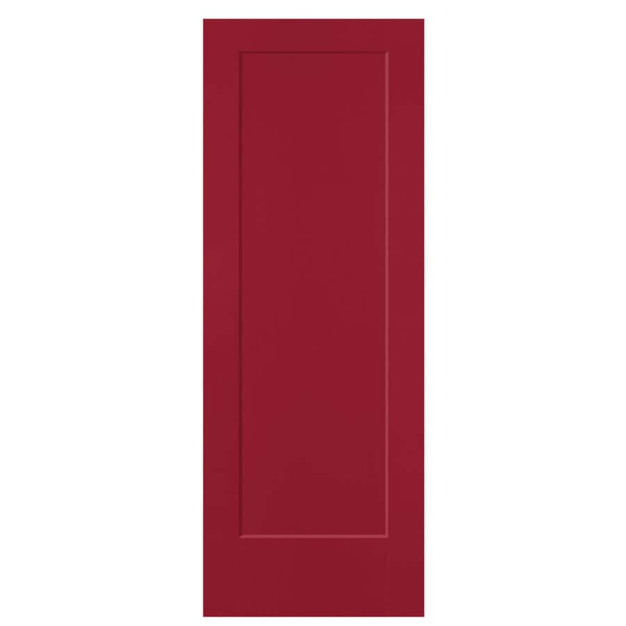 Masonite Lincoln Park Barn Red 1-panel Slab Interior Door (Common: 24-in x 80-in; Actual: 25.5-in x 81.5-in)