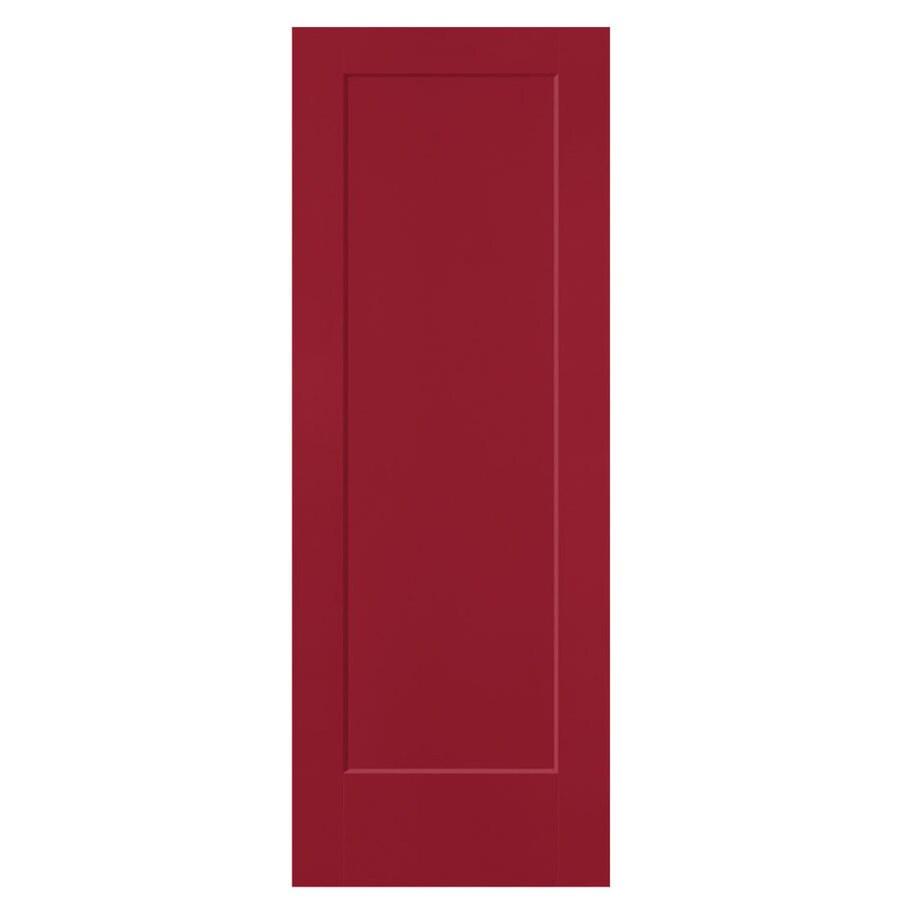 Masonite Lincoln Park Barn Red 1-panel Slab Interior Door (Common: 28-in X 80-in; Actual: 29.5-in x 81.5-in)